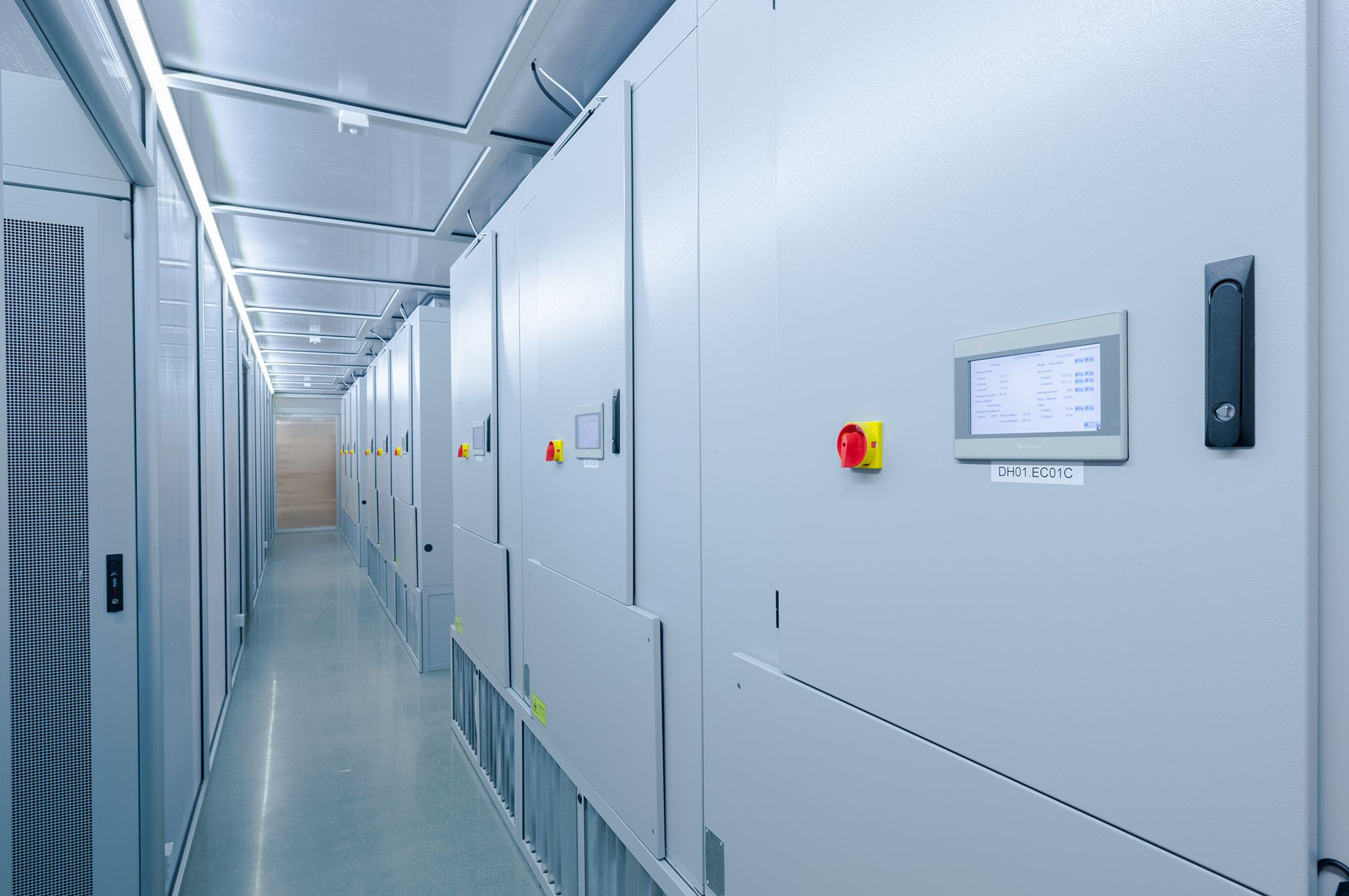CloudCooler ECT 10800 evaporative cooling units. Installed in a Nordic-based data centre for increased energy efficiency.