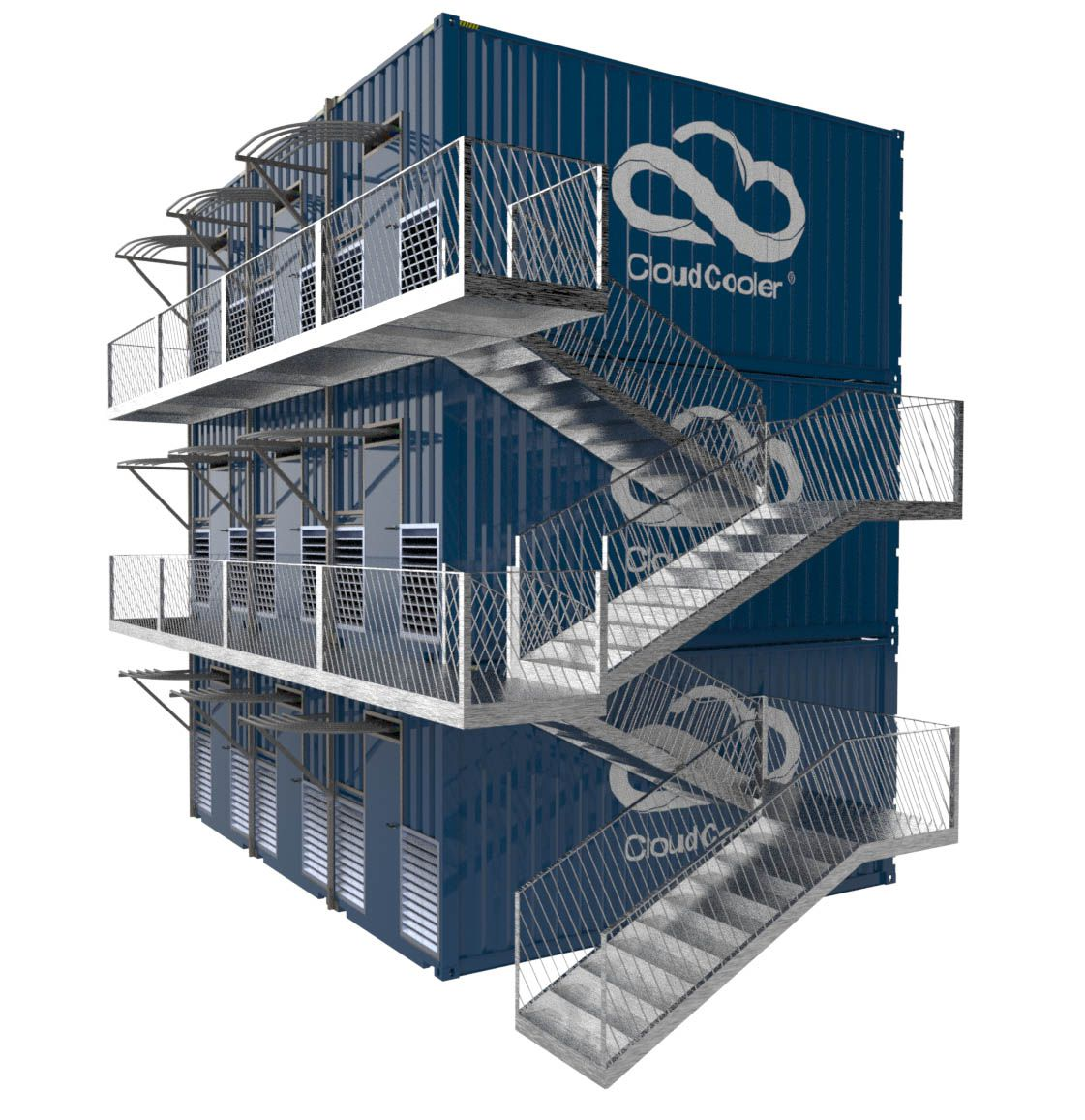 HPC Data Container. Modular prefab system to create a hyper scale data centre