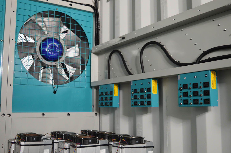 Fan HPC data container internal