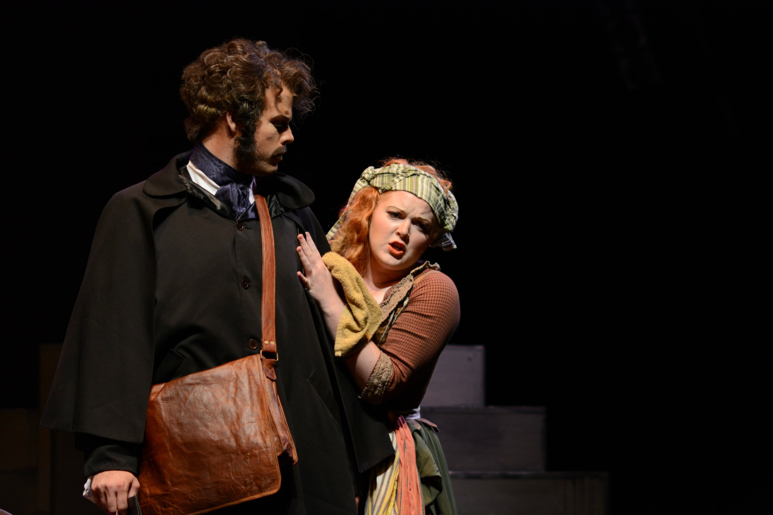 Madame Thernardier in Les Miserables at Seagle Music Colony (2015). Photo by James Carnahan.