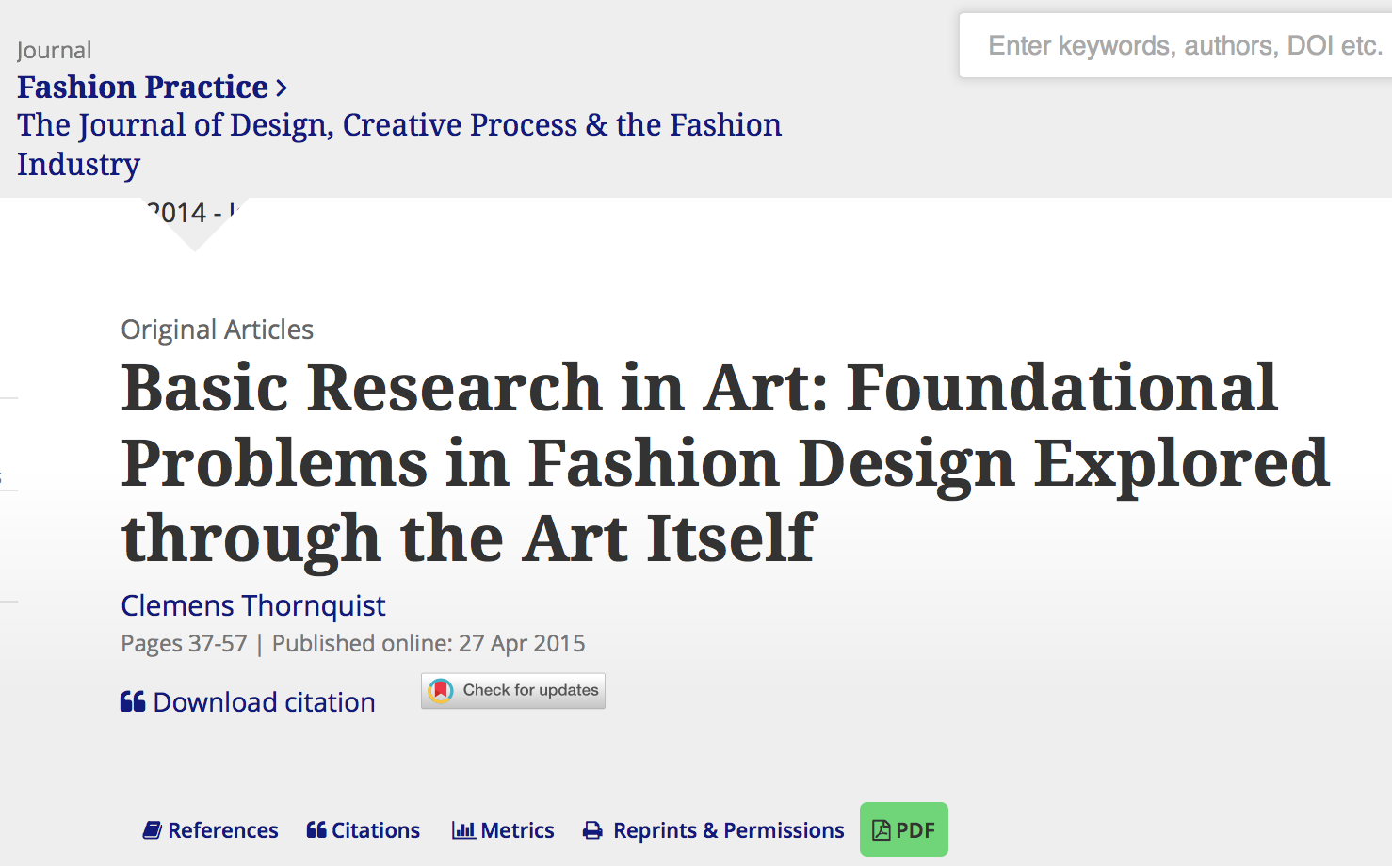 Basic Research In Art Foundational Problems In Fashion Design Explored Through The Art Itself Body And Space Research Lab