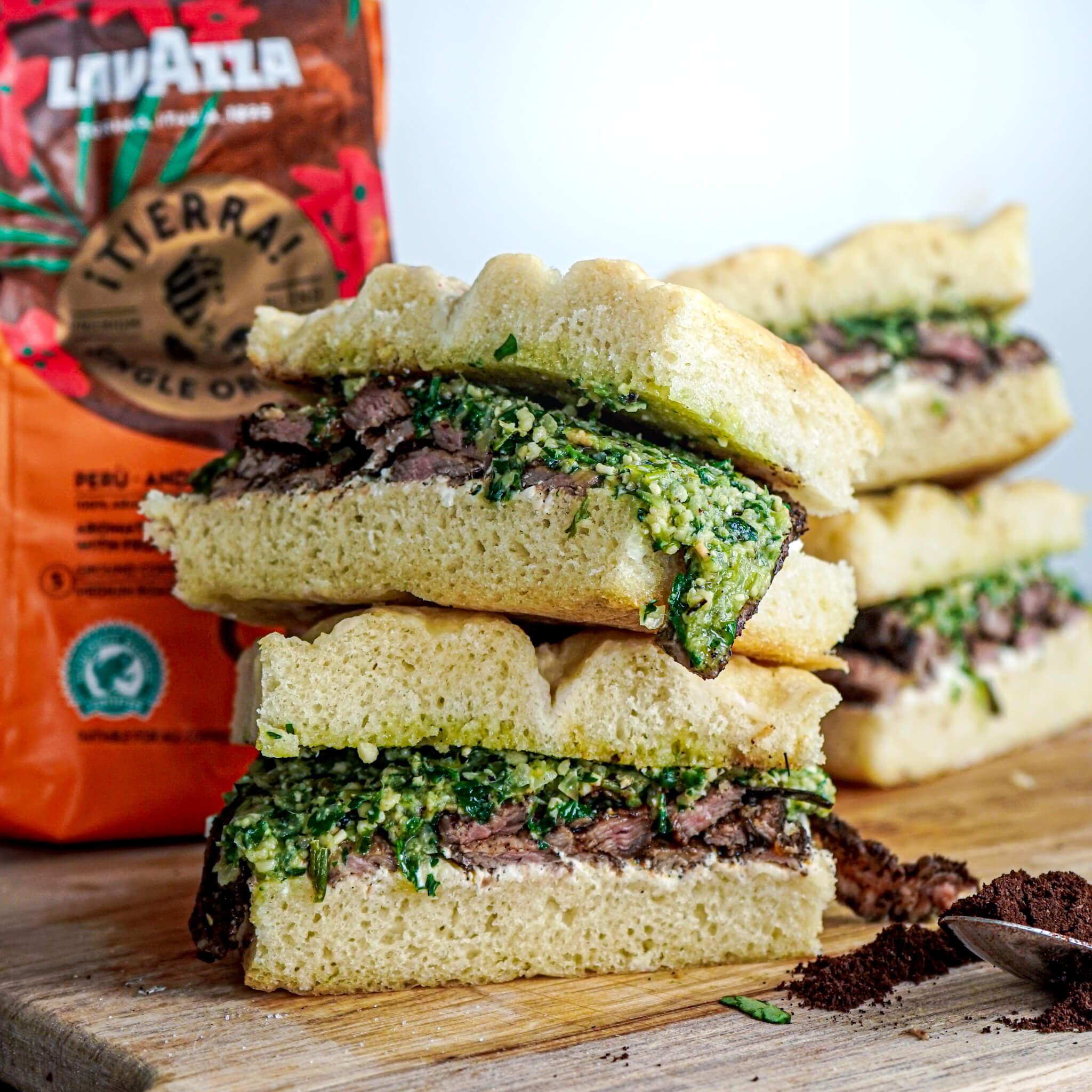 Lavazza steak sandwich 1