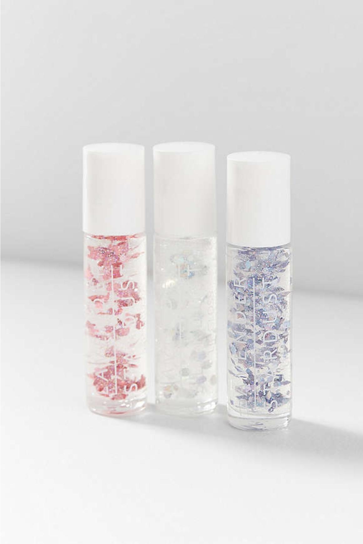 Lavender Stardust Glitter Lip Gloss Trio Set