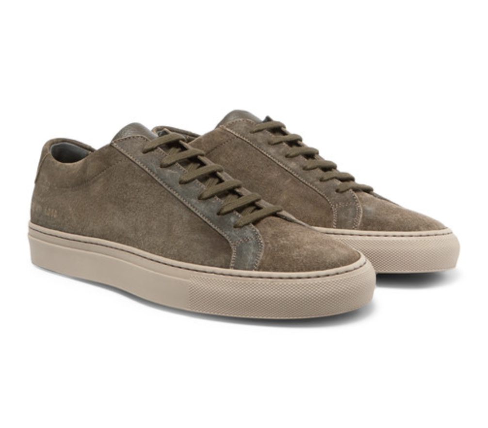 Achilles Leather And Suede Sneakers