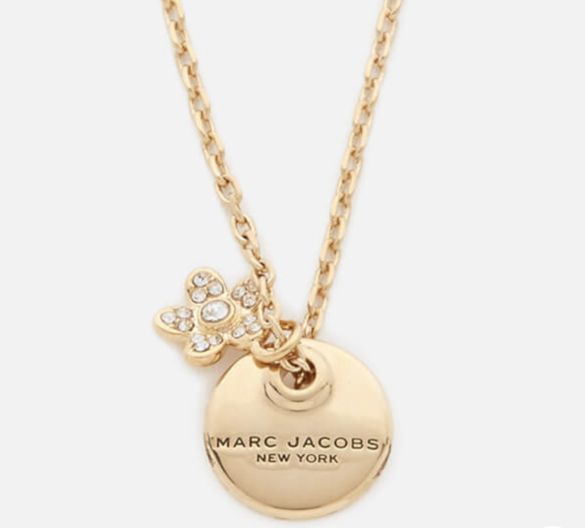 Marc Jacobs Women's MJ Coin Crystal Pendant