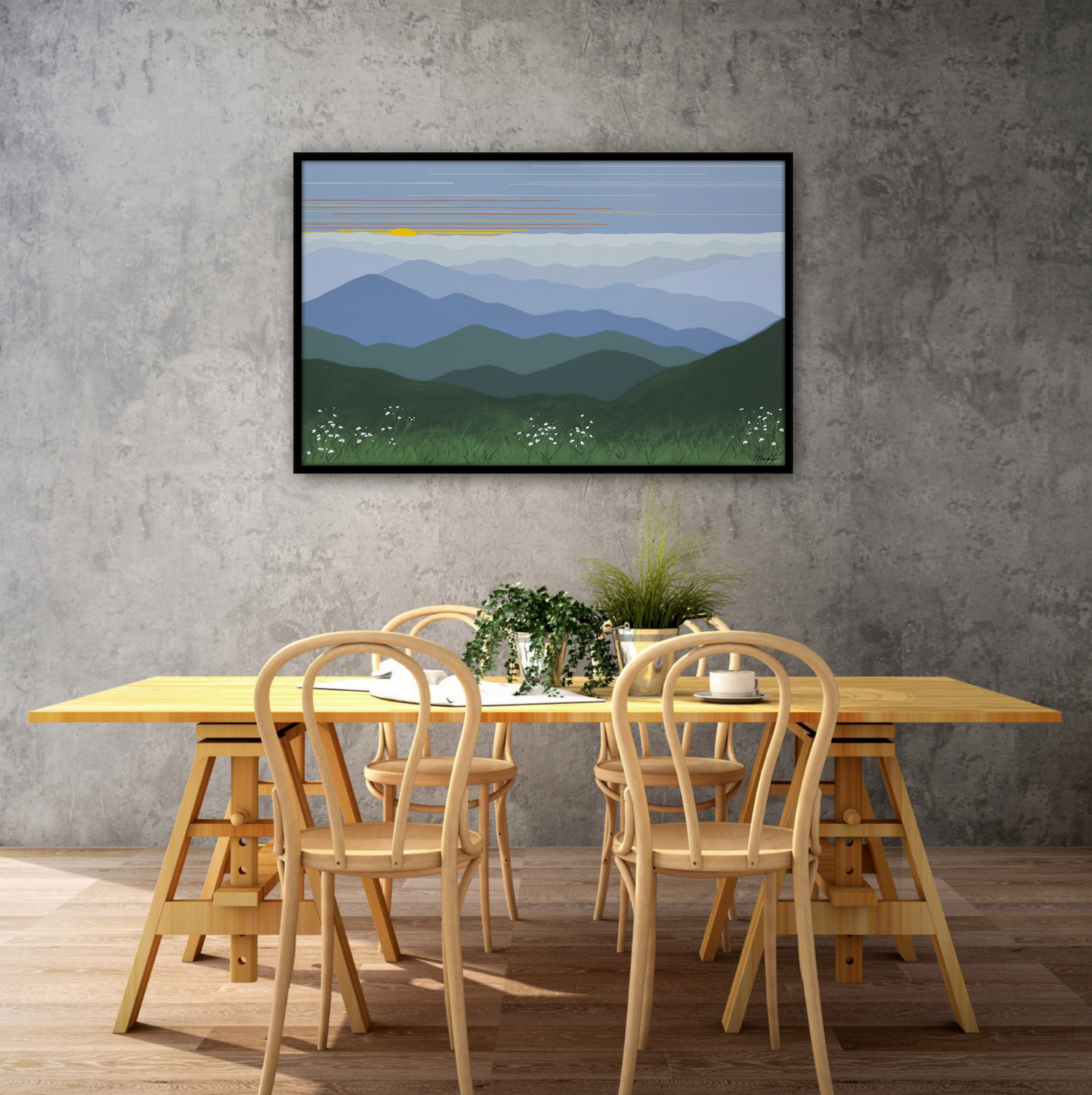 Commission Dimensional Landscape Paintings, Cindy Lou Chenard, Asheville, North Carolina-024.jpg