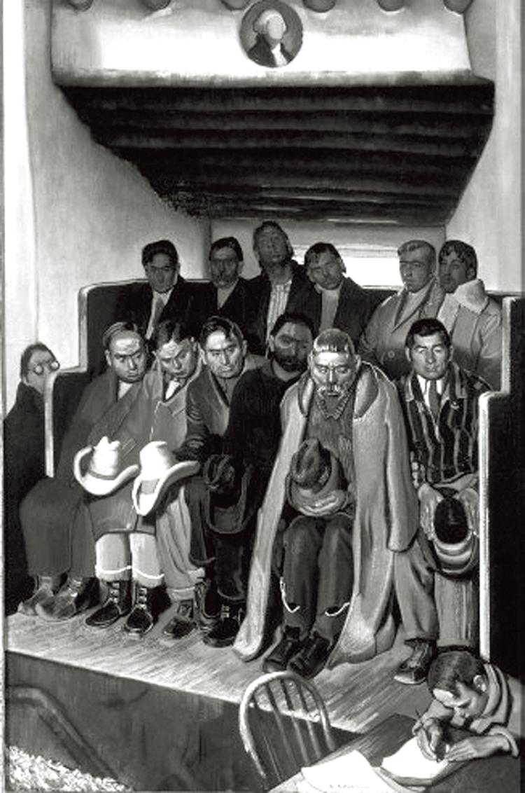 E. Blumenschein's Jury for Trial of a Sheepherder for Murder, 1936
