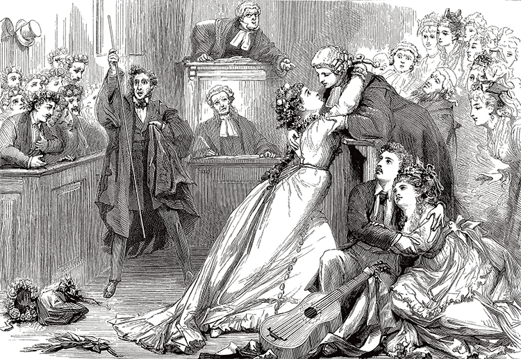 Gilbert & Sullivan's Trial By Jury, 1875.