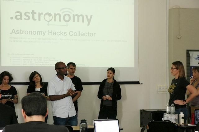 Presenting hack ideas at .Astronomy 9 (Image: Samir Durdhe)