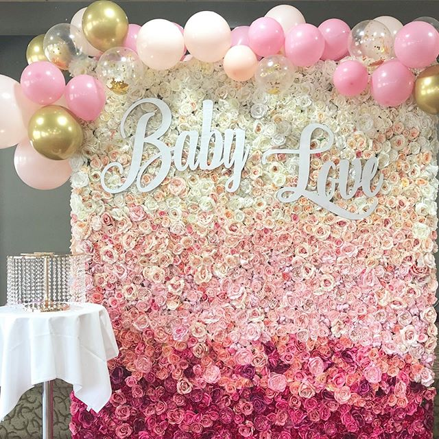 Baby Love 🎀 #flowerwallvancouver #flowerwall #ombreflowerwall #babyshower #babygirl
