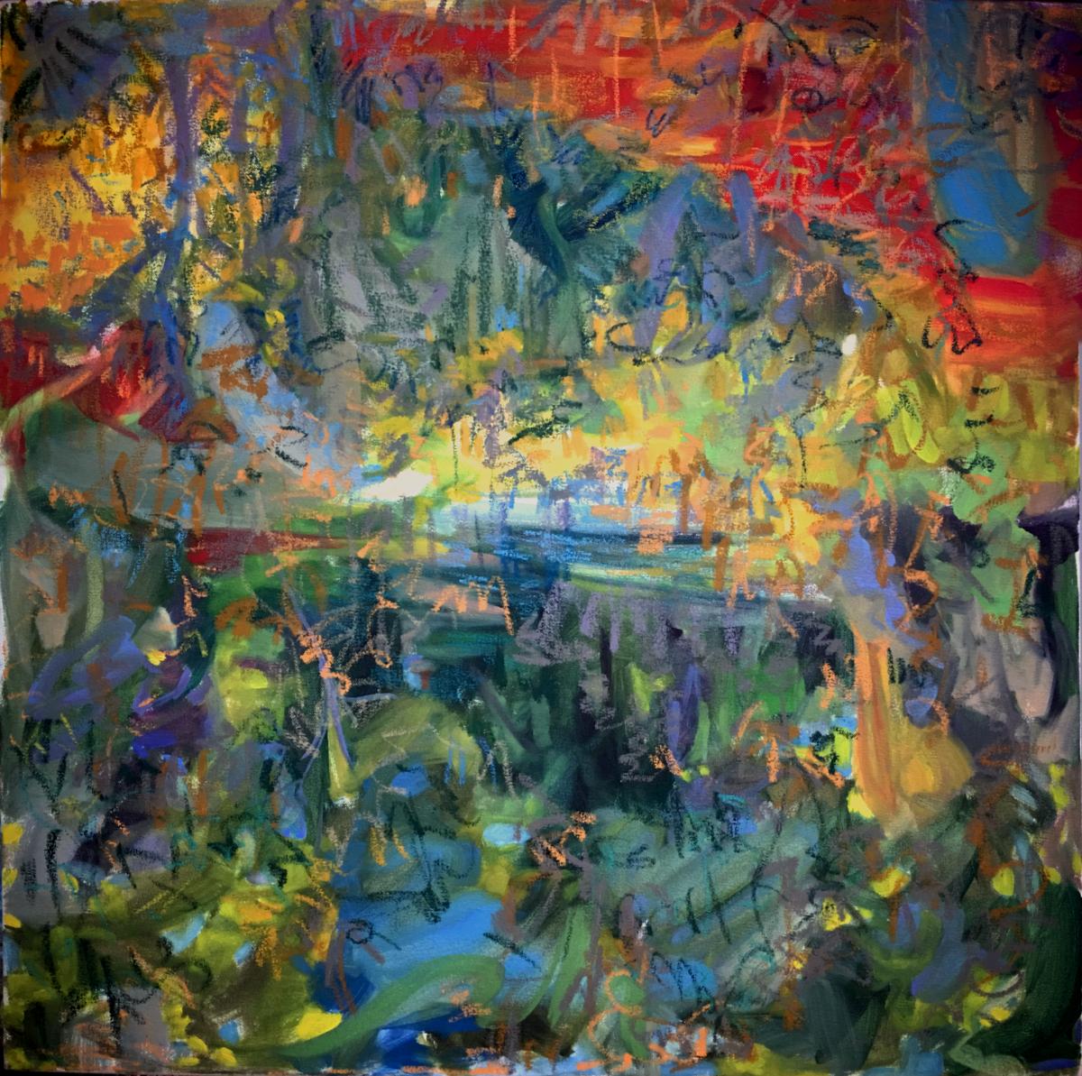 Gravity Escapement XXX; Oil on Canvas 30x30 inches 2016