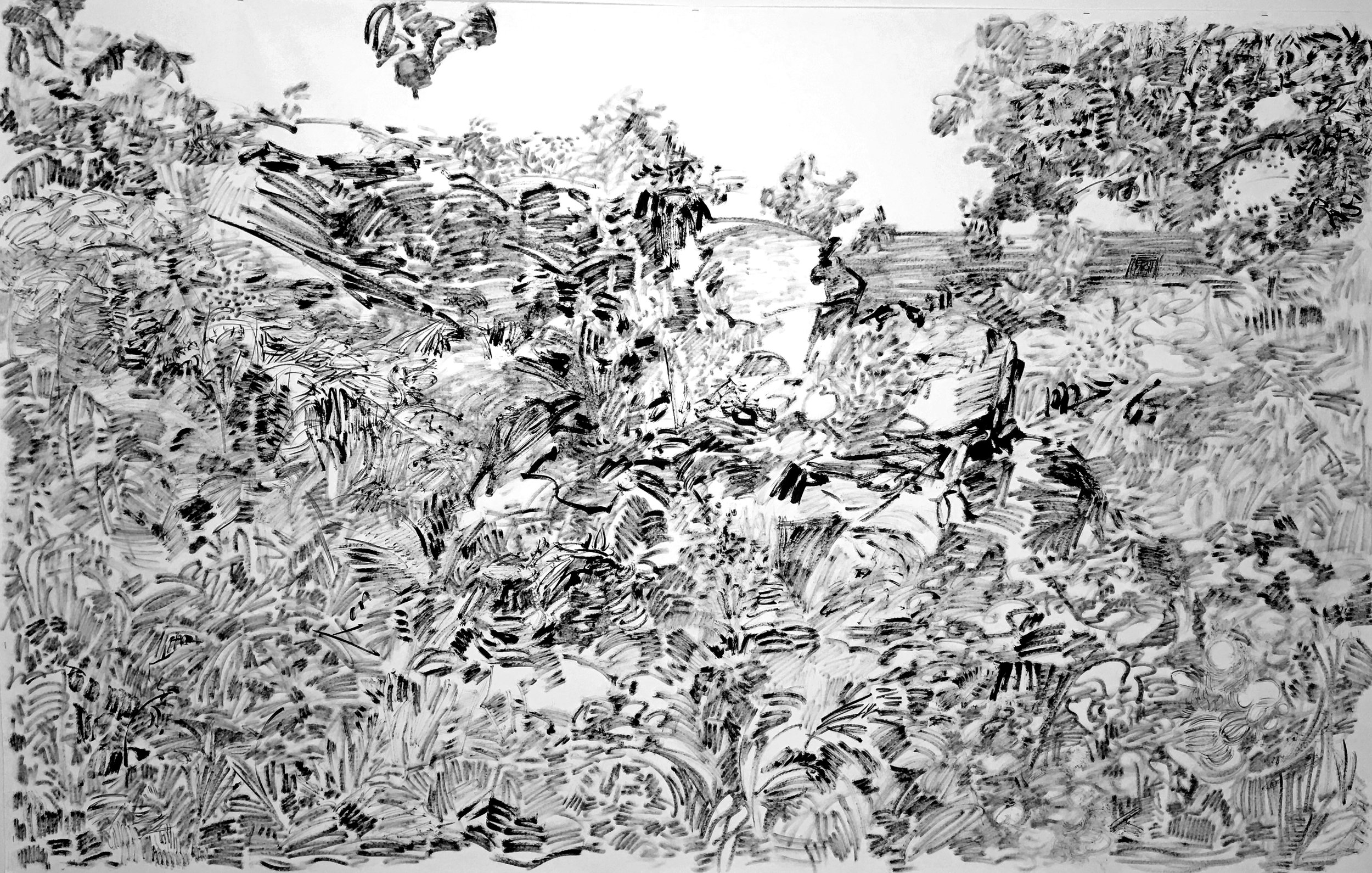Ink on paper, 60x96 inches