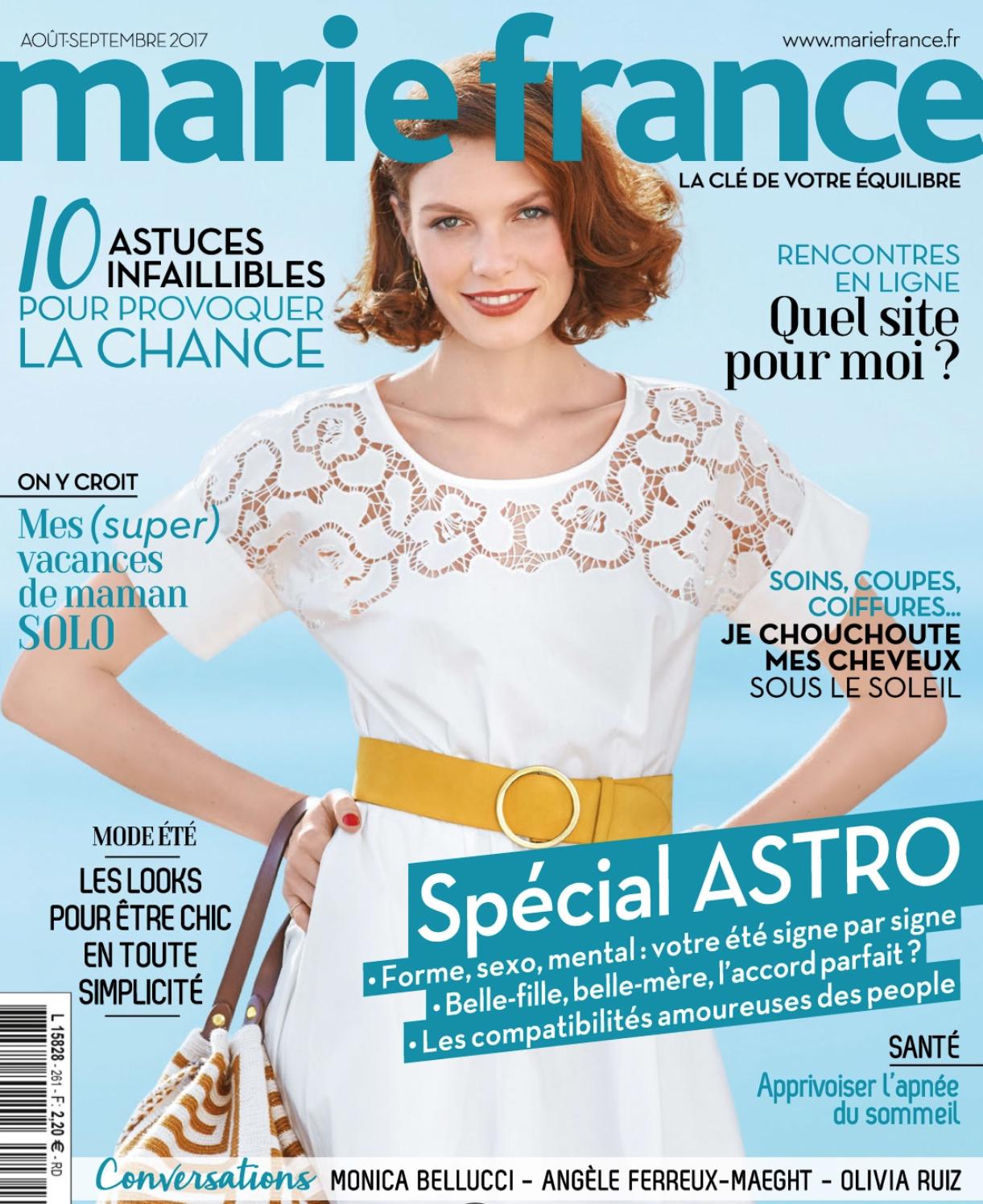 Marie France - Aout,Septembre 2017 - Couv .jpg
