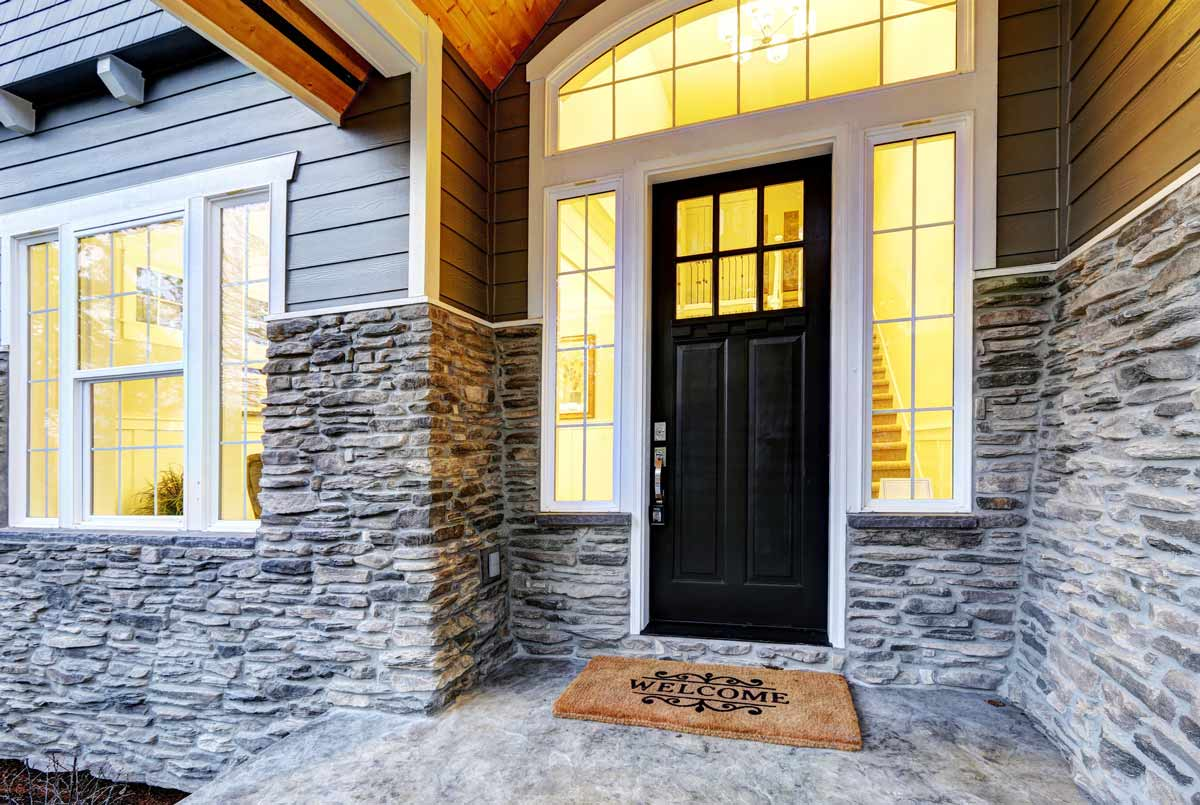 A Beautiful Transom above the Doorway adds to the Elegance of your Home.