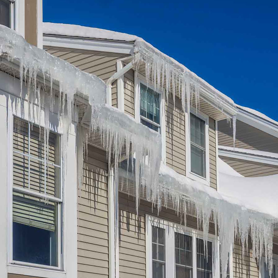Ice damns can cause a lot of damage. Ventilation of your roof is a major cause. Have Universal Windows Direct of Ft. Wayne check your roof and gutters if you are not sure.