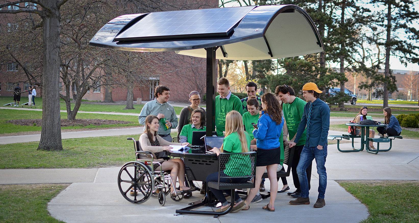 Evodia Solar Table at Michigan State University.