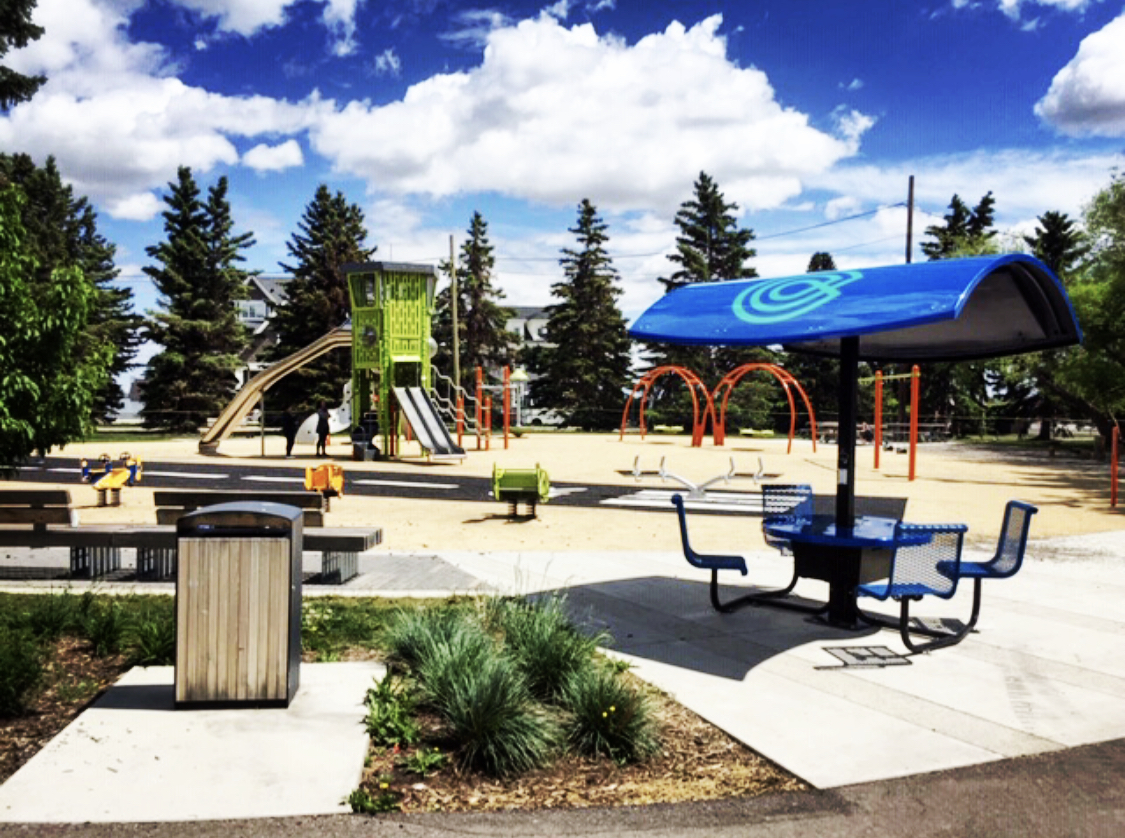 Evodia Solar Workstation at Calgary Airport Parks