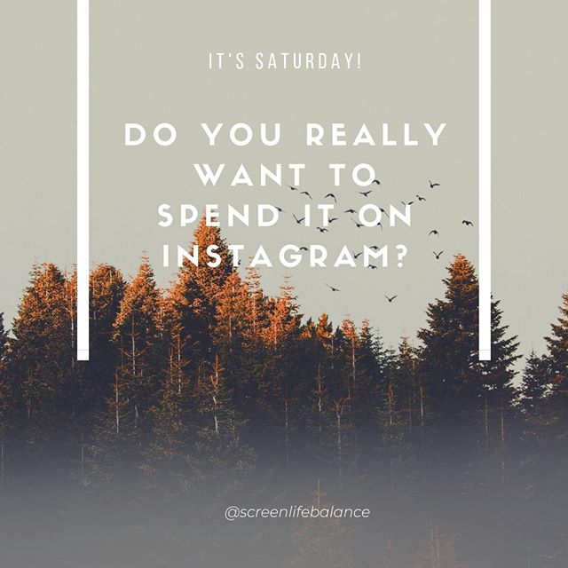 I mean, for reals. Do you really want to spend your day off like this?⁠ .⁠ .⁠ .⁠ .⁠ .⁠ #phonebreakup #mindfulliving #screenlifebalance #digitalwellbeing #mindfulness #scrollless #lifehack #digitaldetox #digitalminimalism #screenlife #lifeinbalance #liveinthemoment #enjoylife #mindfultech #screentime #saturday #theweekend⁠