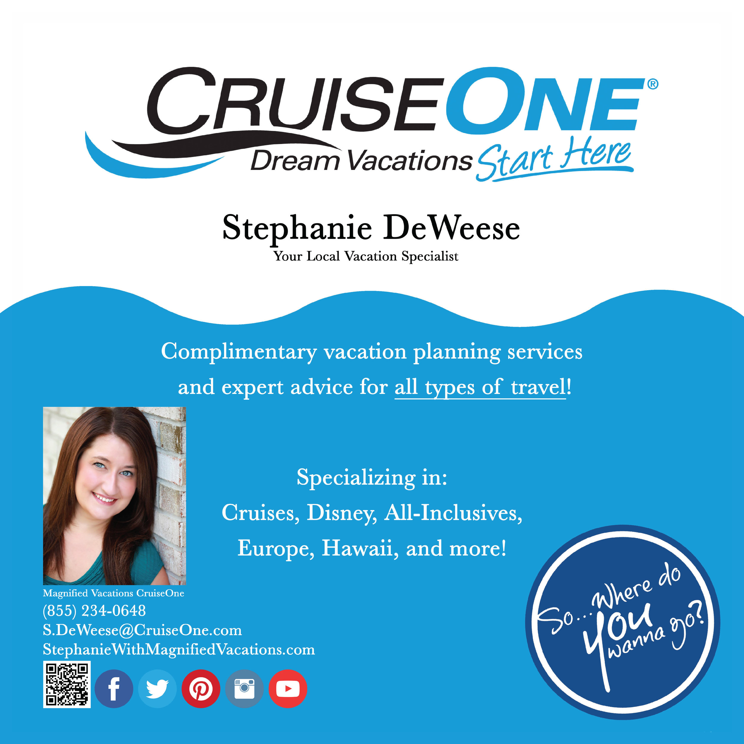 why don't you just get outta here...and consult stephanie about your next vacay! - Click link below.