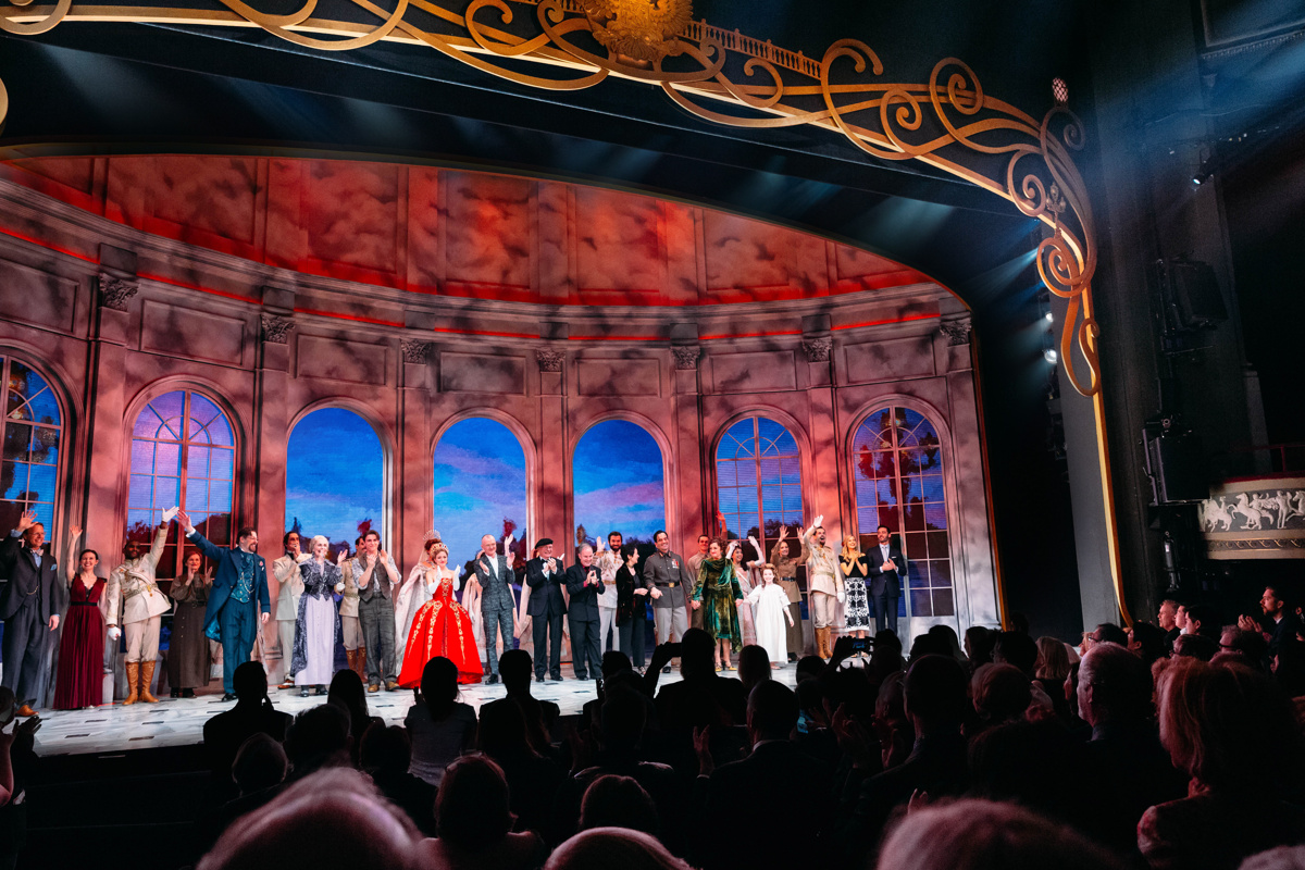 A View of The Broadhurst's Stage During ANASTASIA's Curtain Call