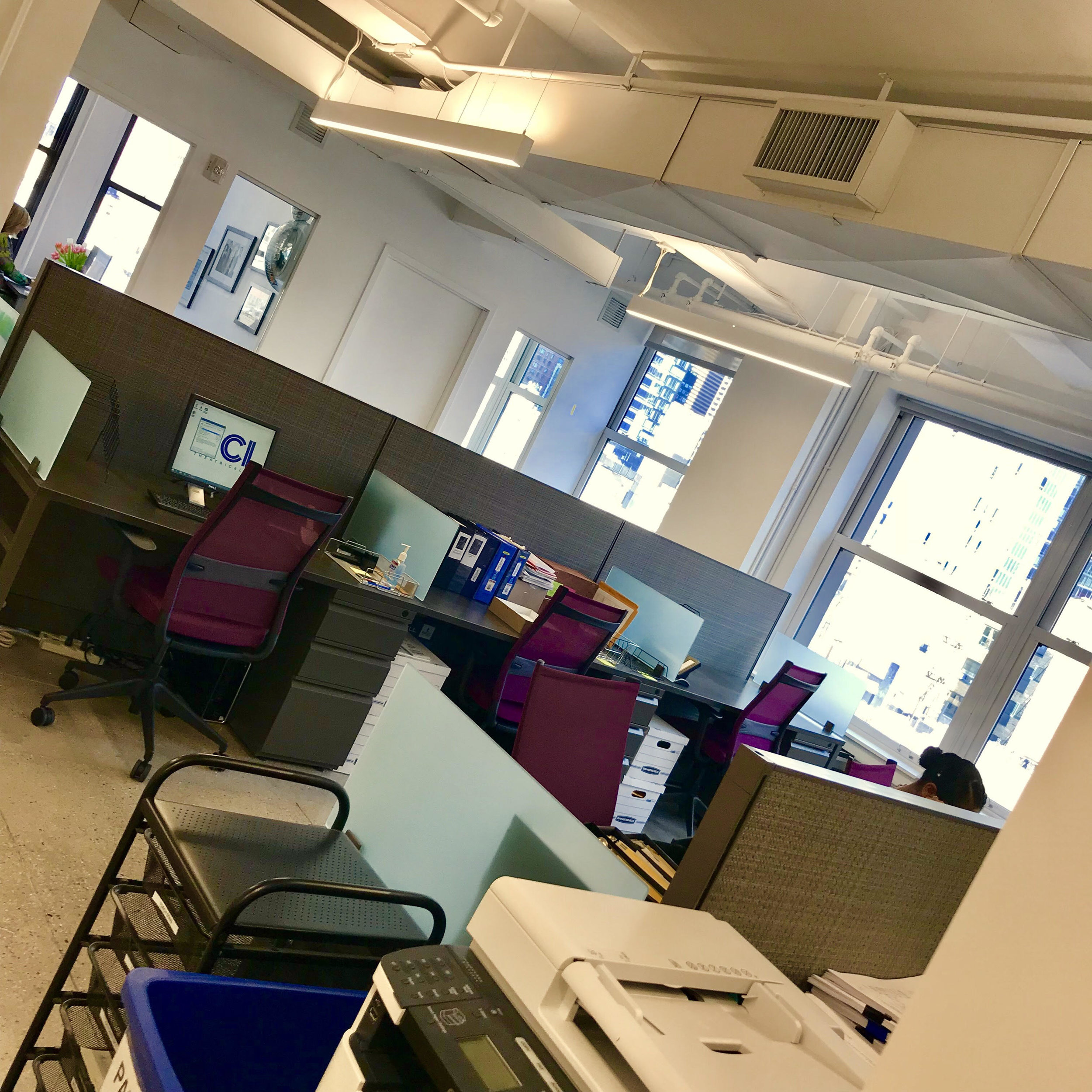 The new work spaces!