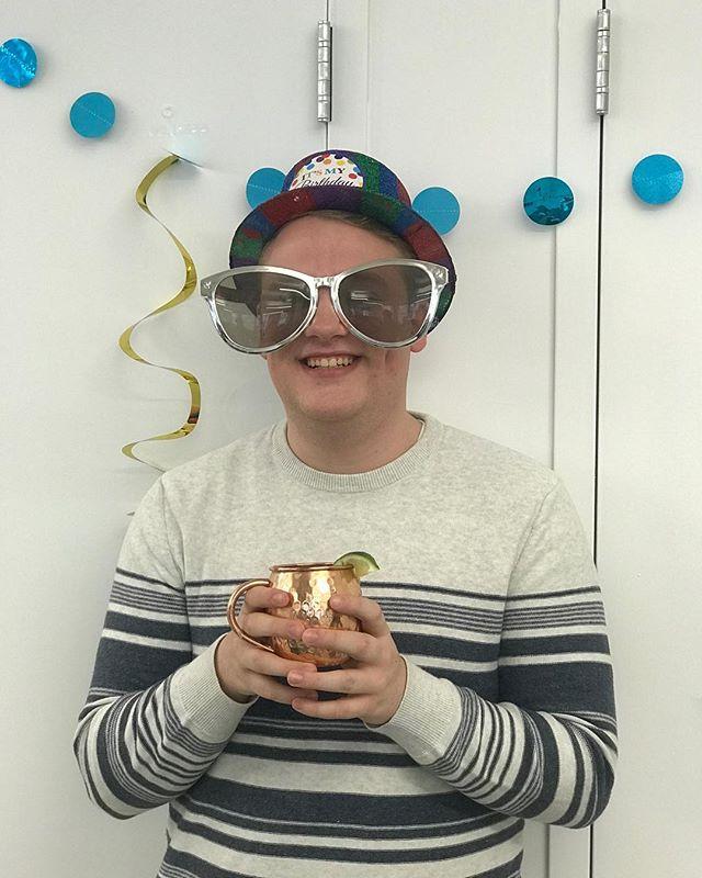 Today we celebrated the 21st Birtday of our intern, Nick. Happy Birthday Nick! #generalmanagement #birthdayfun #birthday #birthdayboy #twentyone #intern #internships #office #officefun #party #fun #theater #birthdaylove #birthdayparty #broadway #nyc #newyork #newyorkcity