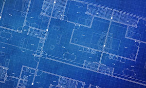 Pre-demolition Blueprint Image