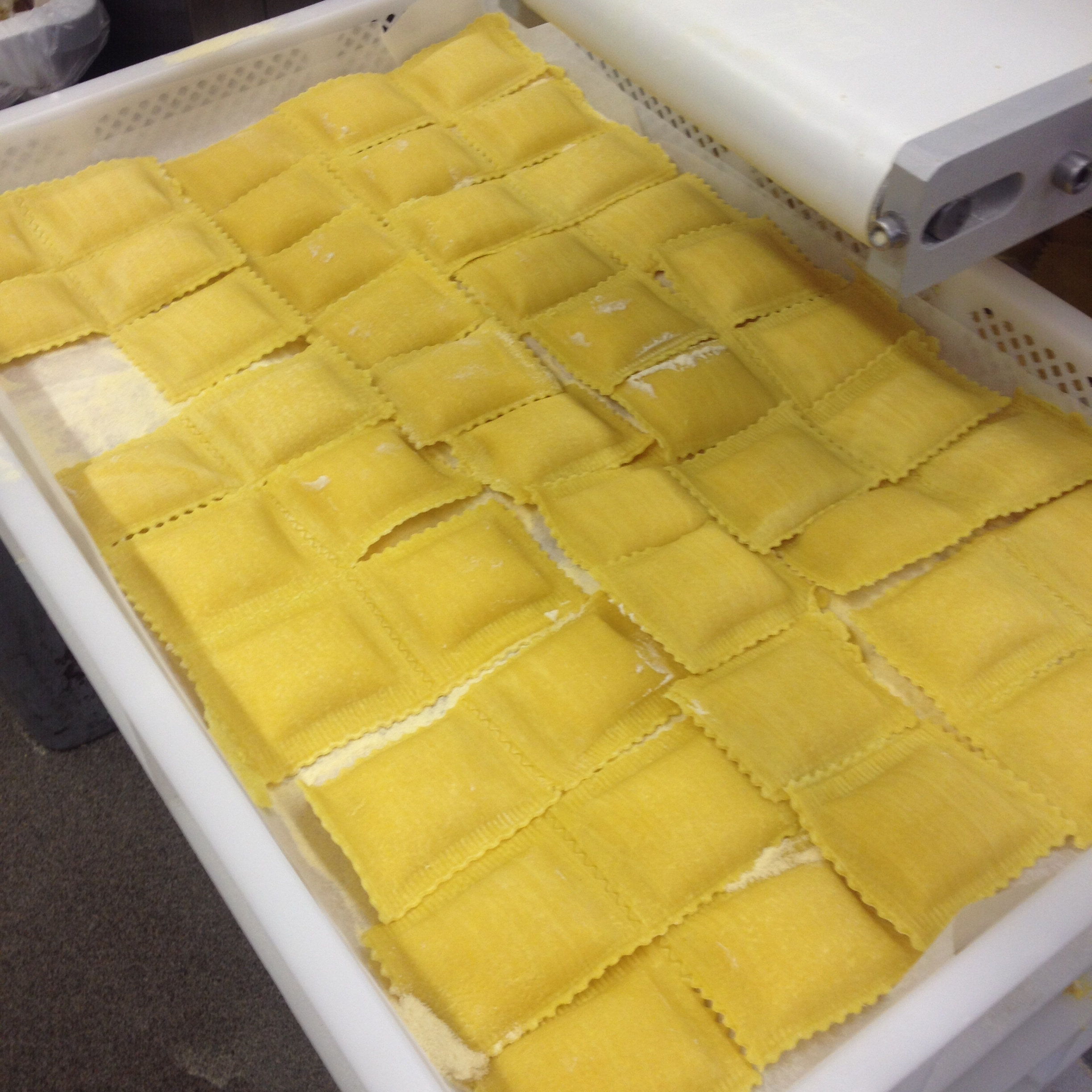 Fresh-made butternut squash ravioli at Russo's