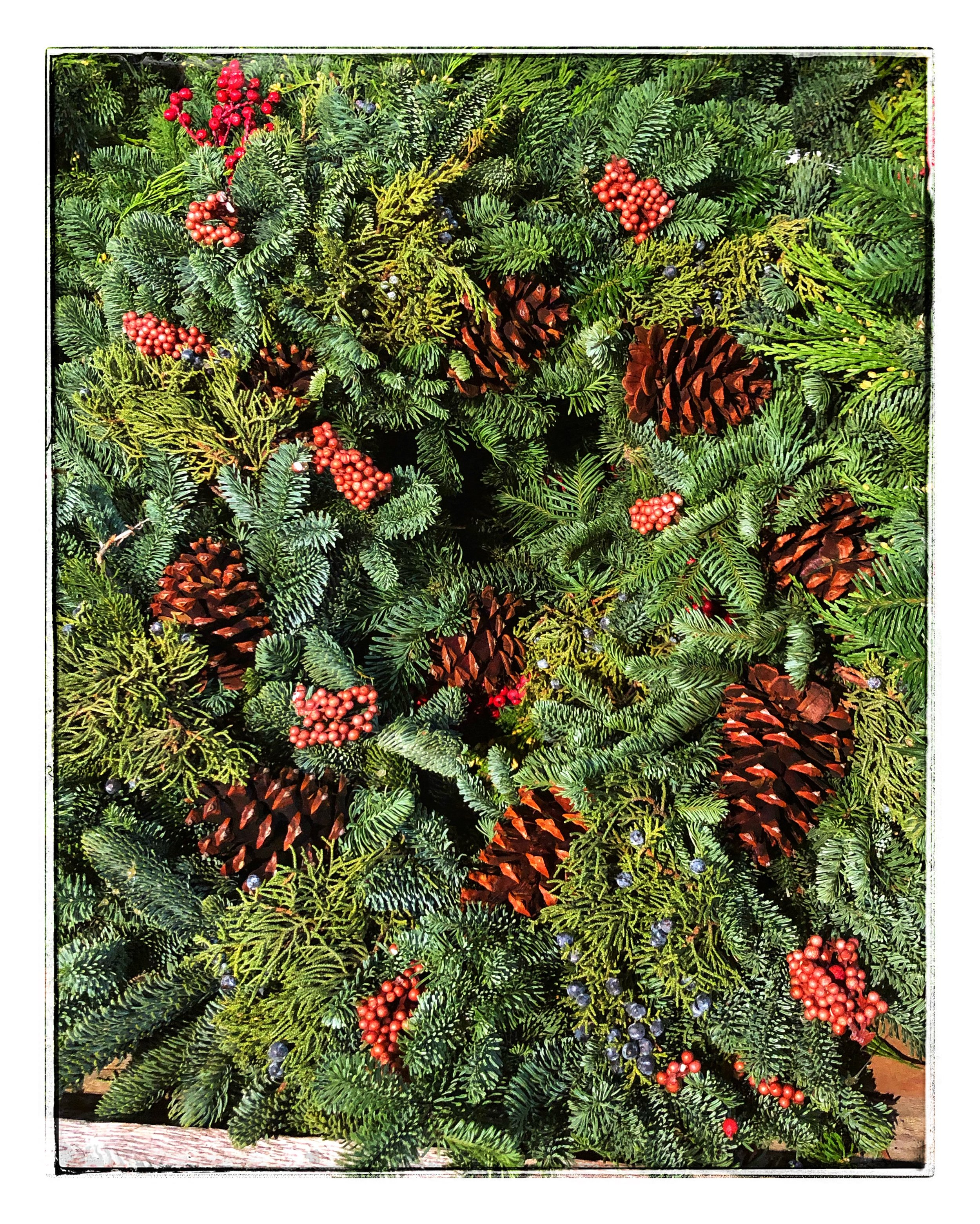 Wreaths at Russo's to decorate the season!