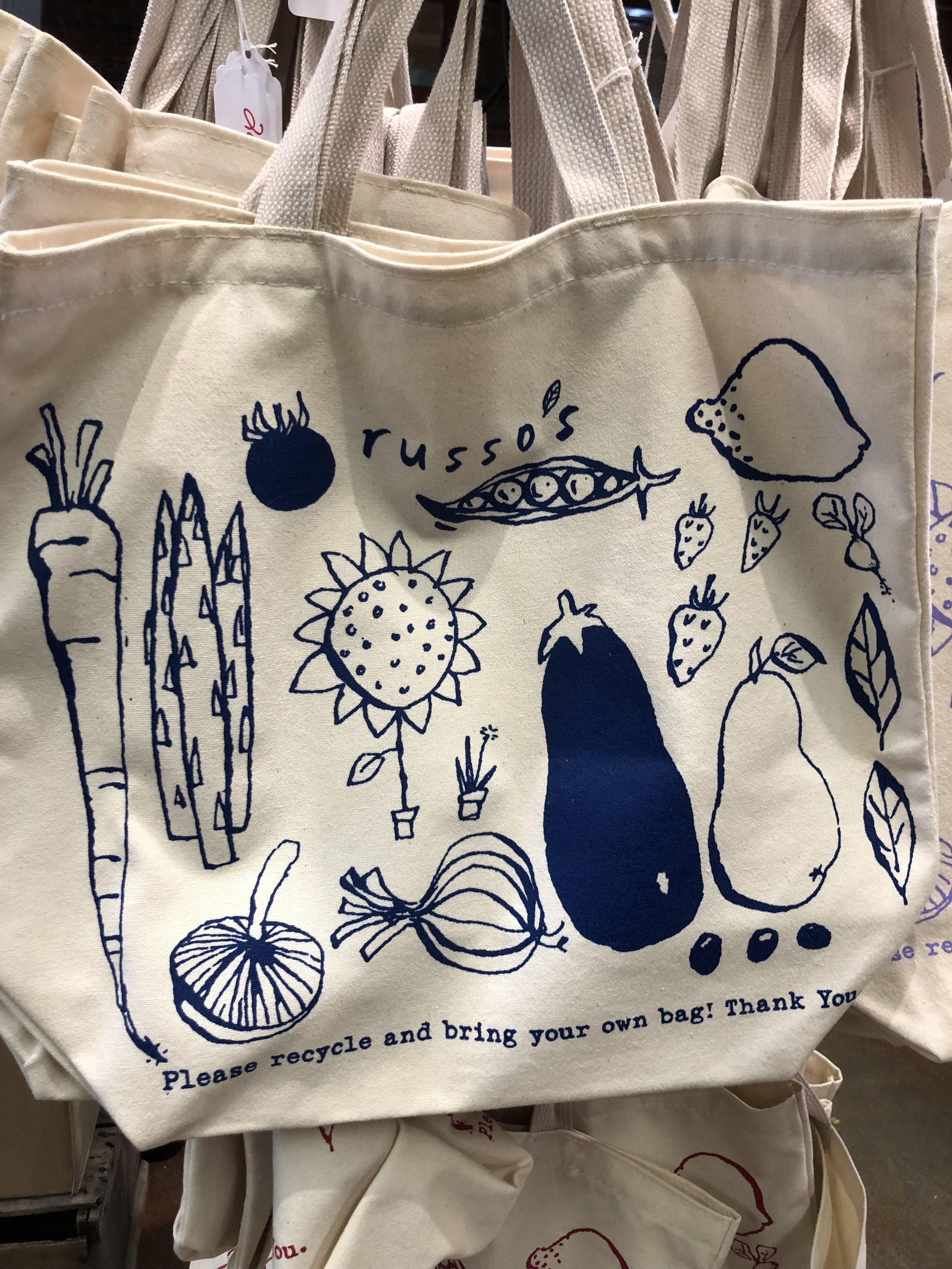 Our newest blue Russo's Tote Bag make a perfect holiday gift!