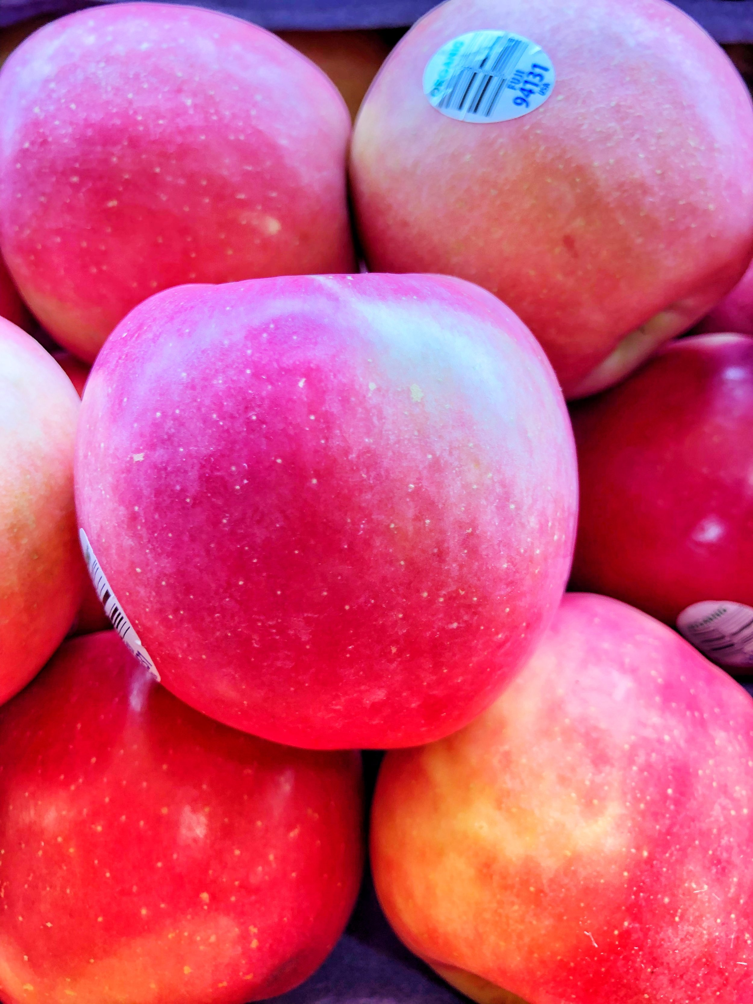 Organic apples on special this week at Russo's.