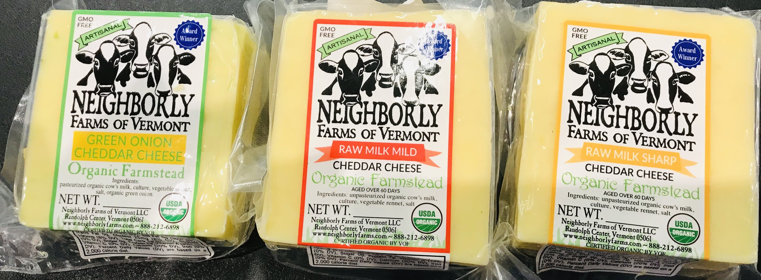 Neighborly Farms of Vermont organic cheese is now available at Russo's!