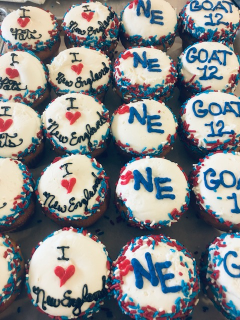 Order your Super Bowl cupcakes today! Go Patriots!