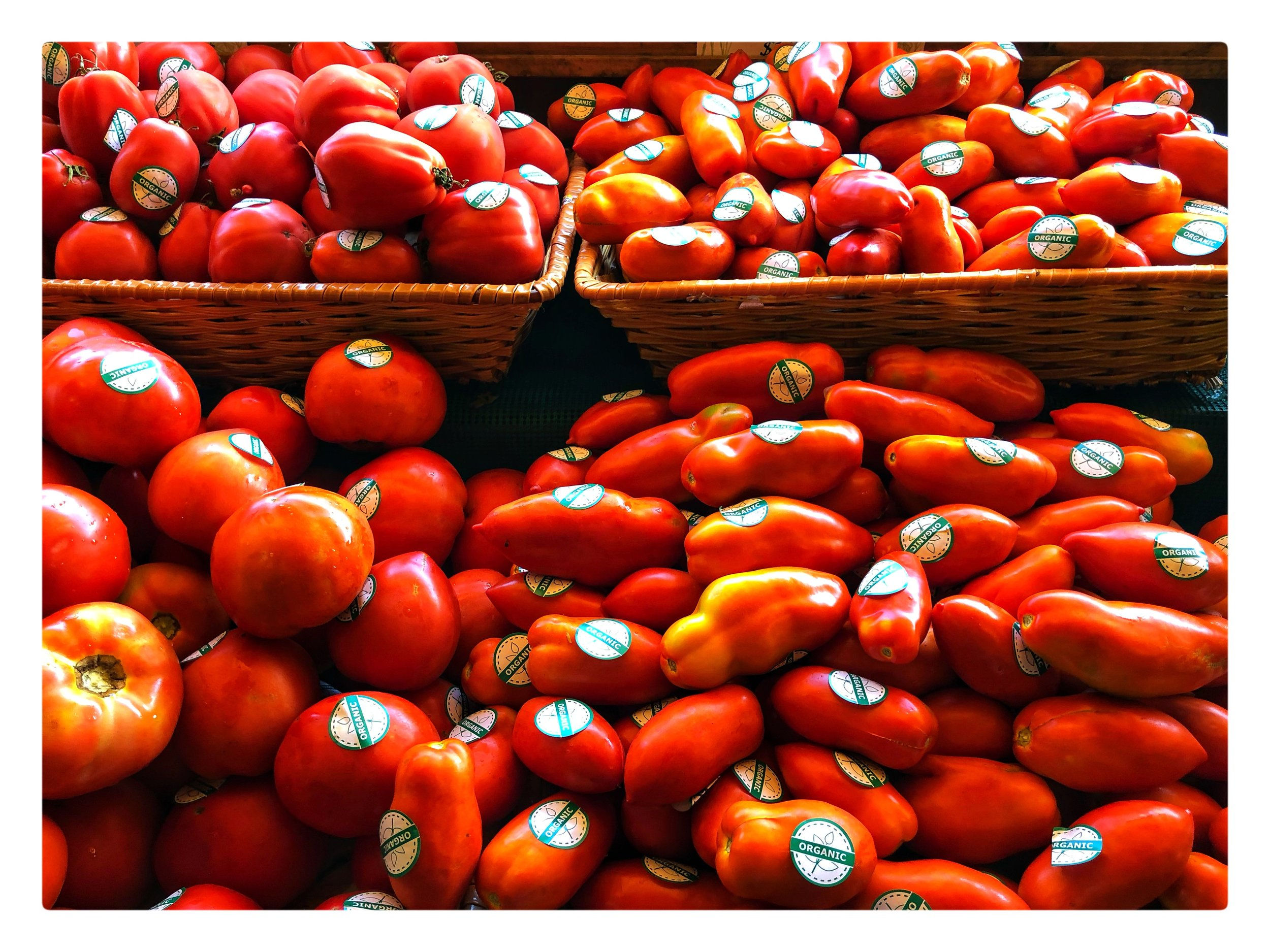 Organic locally grown tomatoes on Special this week! They are delicious!!!