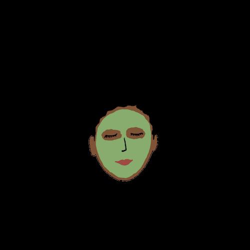 self care illustration mask.png