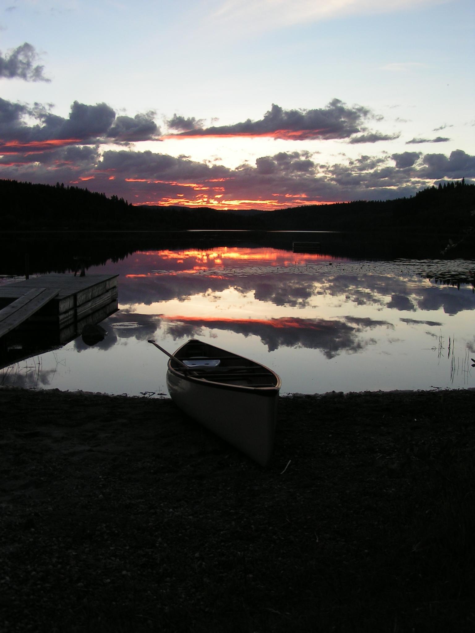 dark sunset with canoeJPG (2).JPG