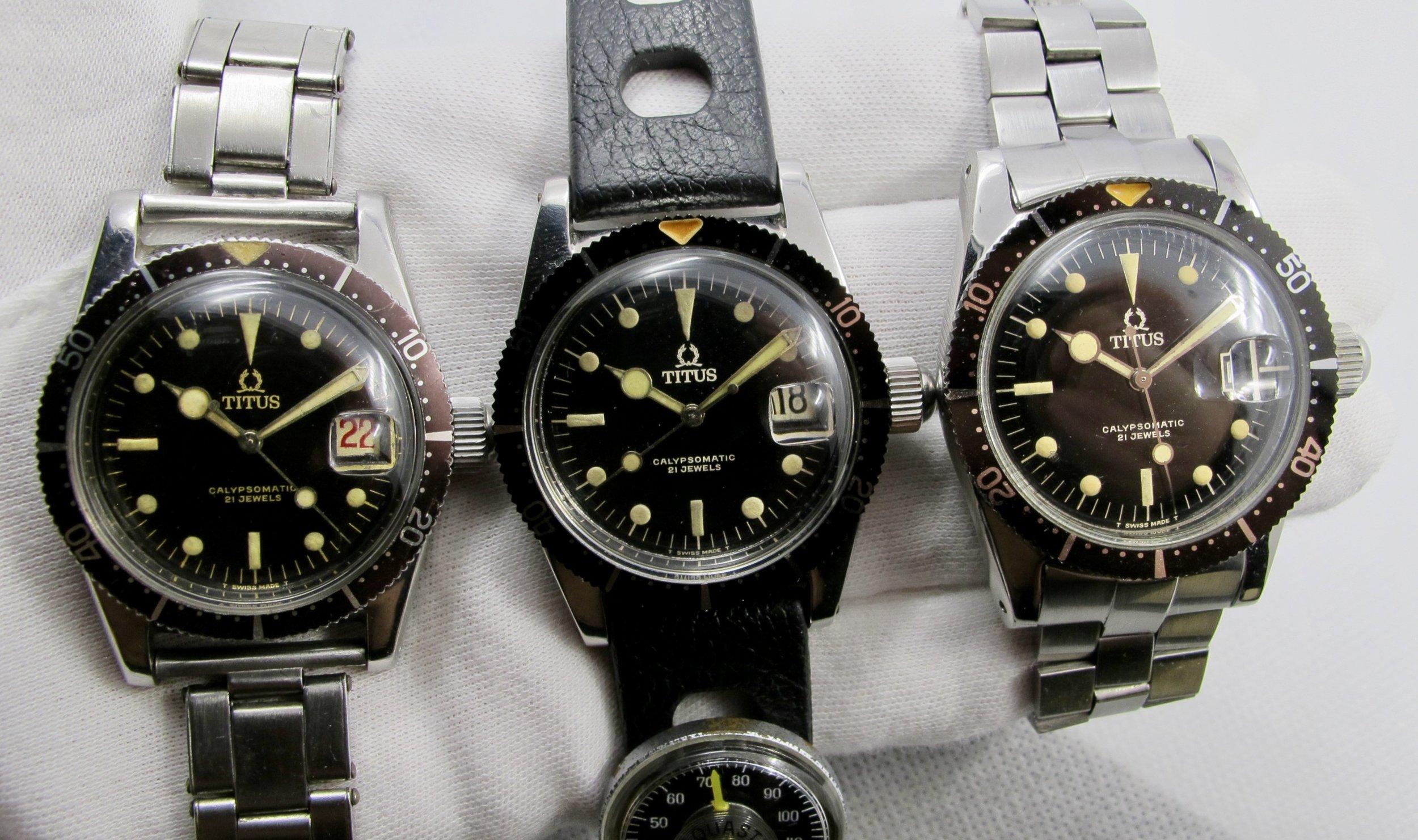 *3 small logo dials
