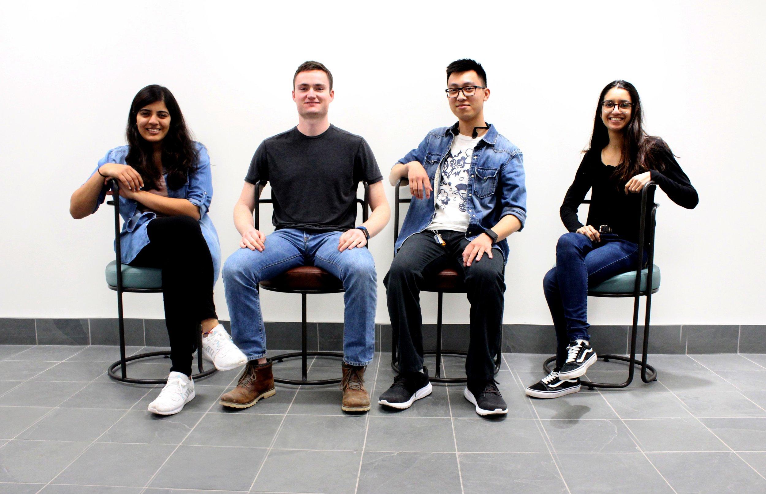 Team members (L-R): Ashuni, Joshua, Christopher and Lauren