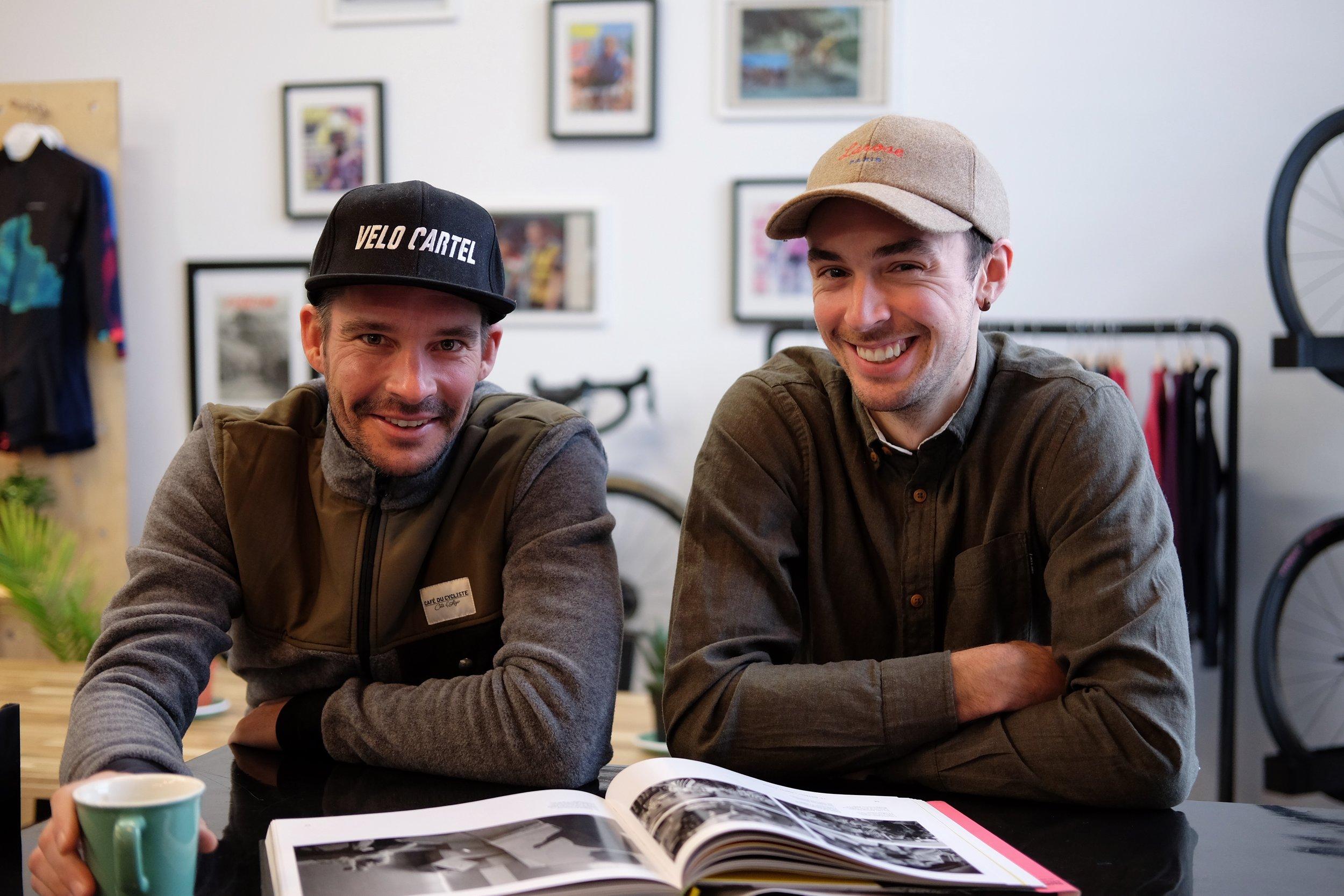 Bruno et Kevin, fondateurs de Vélo Cartel
