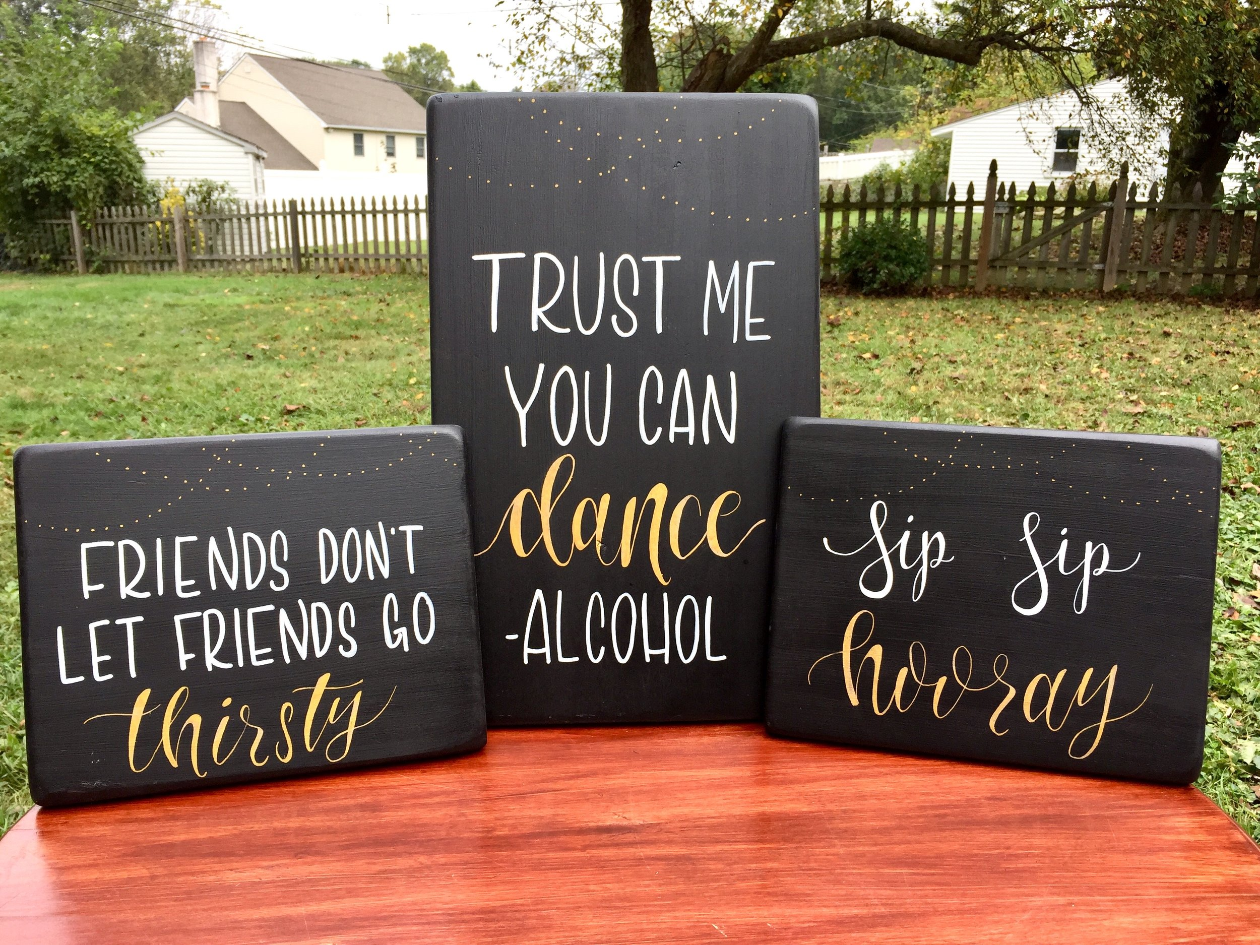 Get Creative! - Have an event coming up? Wedding, baby shower, graduation? Seventeenth Street Designs can work with you to create the perfect custom sign!All signs are painted by hand, no stencils or vinyl is ever used. This makes every sign truly unique!