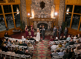 Spearfish Canyon Lodge also offers a stunning indoor wedding venue