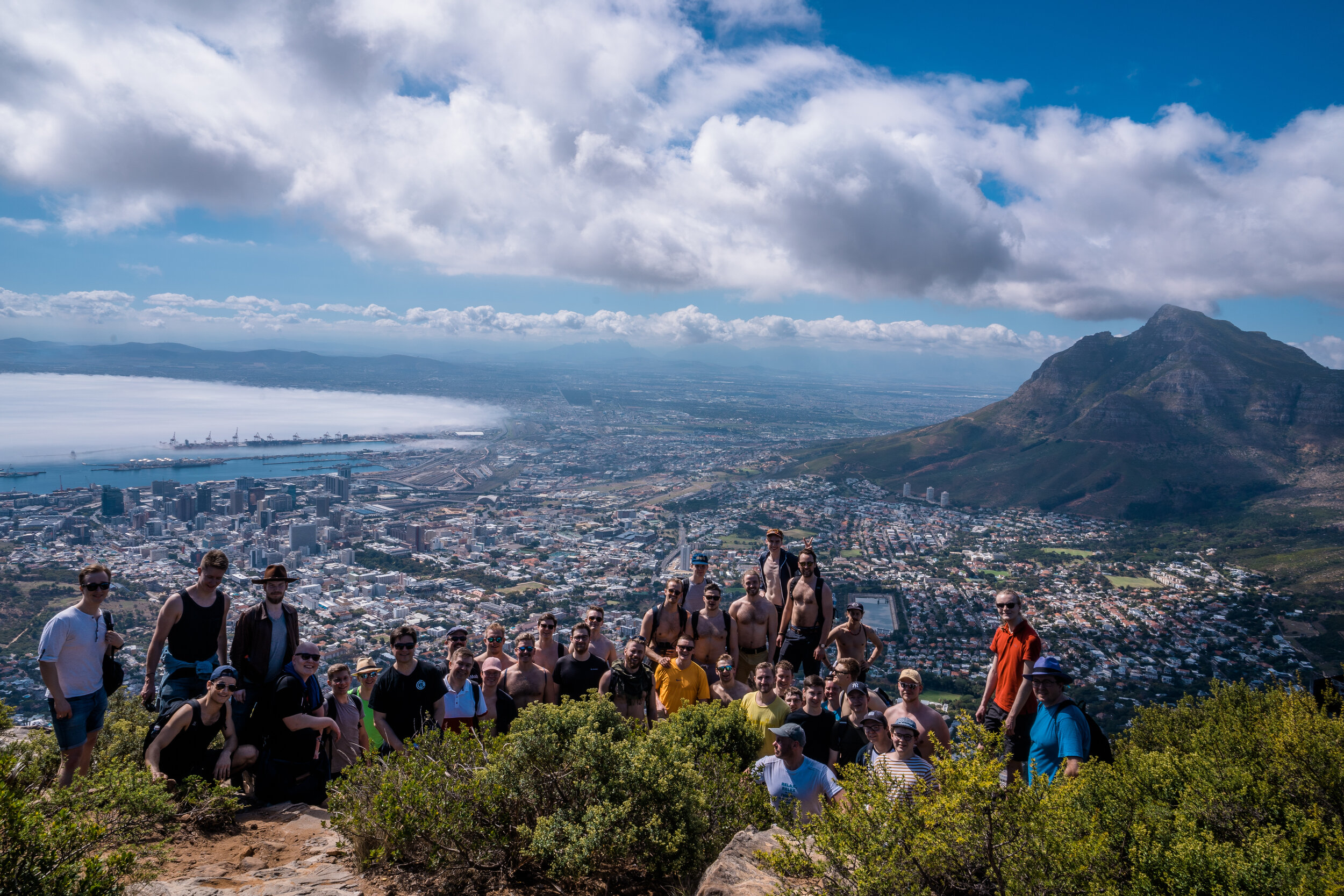 Akademen atop Lions Head in Cape Town, South Africa