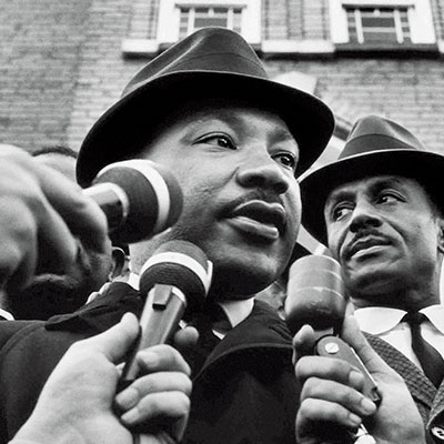 """Rev. Dr. Martin Luther King Jr. , a Baptist minister and activist who led the 1955 Montgomery Bus Boycott and helped organize the nonviolent 1963 protest in Birmingham, Alabama and the March on Washington, where he delivered his famous """"I Have a Dream"""" speech. Dr. King received the Nobel Peace Prize """"for combating racial inequality through nonviolent resistance."""" He was posthumously awarded the Presidential Medal of Freedom and the Congressional Gold Medal. The Martin Luther King Jr. Memorial on the National Mall in Washington, D.C. was dedicated in 2011."""