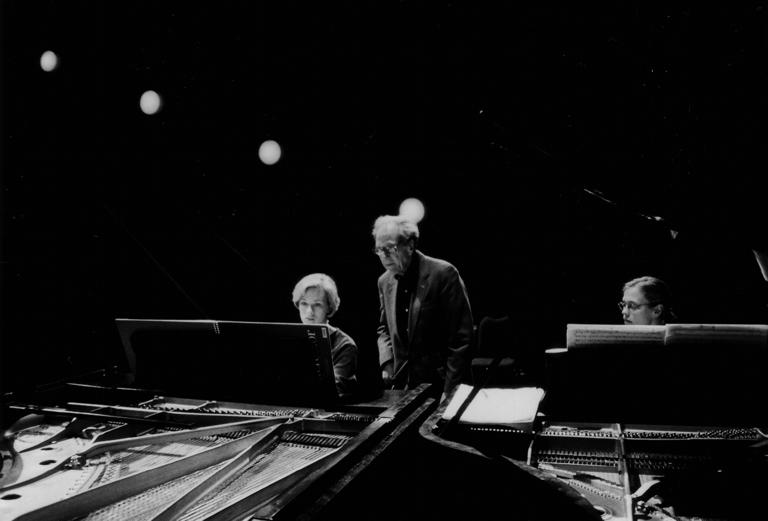 The Duo rehearsing with Lukas Foss (Buffalo, 2001)