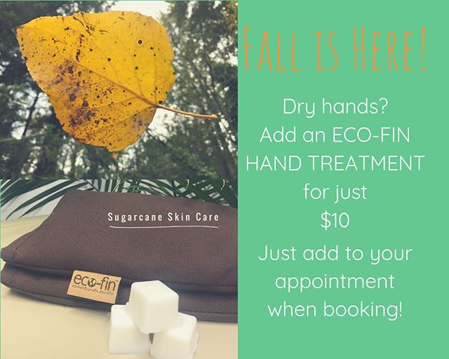ECO-FIN hand treatments are natural way to restore your dry skin! 🌴During your sugaring treatment slip your hands into a warm comforting mitt with coconut oil and either grapefruit or lavender essential oils. 📲add on to your appointment when booking or if you already have an appointment- text me the scent you would like and I will add for you! . . . #esthetician #fallskincare #ecofin #sugaringhairremoval #sugaring #solafederalway #federalway #dashpoint #redondo #auburn #desmoines