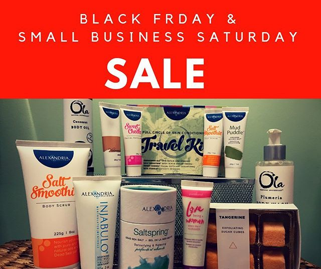 🌟Once a year sale!!🌟20% off all Alexandria, Harper & Ari and Ola Tropical Apothecary products! . 🌟Perfect for stocking stuffers, stocking up or trying new products! 🌟Friday November 23 & 🌟Saturday November 24 only! . . #blackfriday #smallbusinesssaturday #christmas #stockingstuffers  #skincare #federalway #solasalons #solafederalway #esthetician #sugaring #aftercare #hairremoval