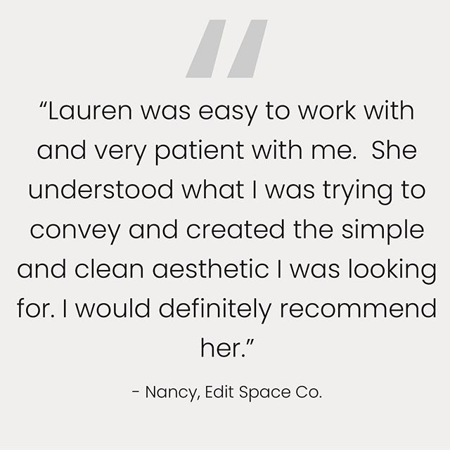 Pro tip for building your website: Include testimonials.  Social proof is much more effective than trying to explain your strengths yourself.  Ask your satisfied clients to write a testimonial you could use on your website, most will be happy to do so! • • • #squarespacewebdesigner #squarespace #squarespacedesign #webdesign #webdesigner #minimaldesign #branding #creativebusiness #creativebiz #creativeentrepreneur #creativepreneur #minimalove #minimalism #testimonial