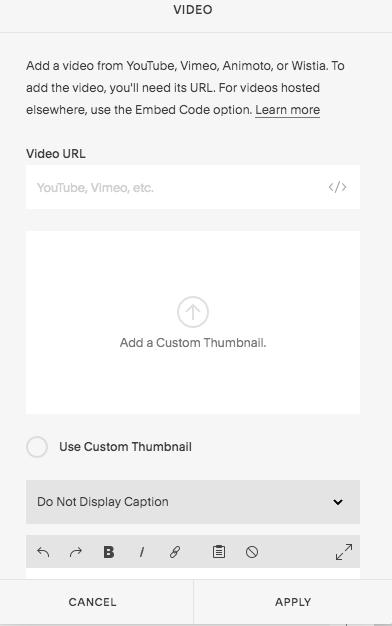 Add Video Block