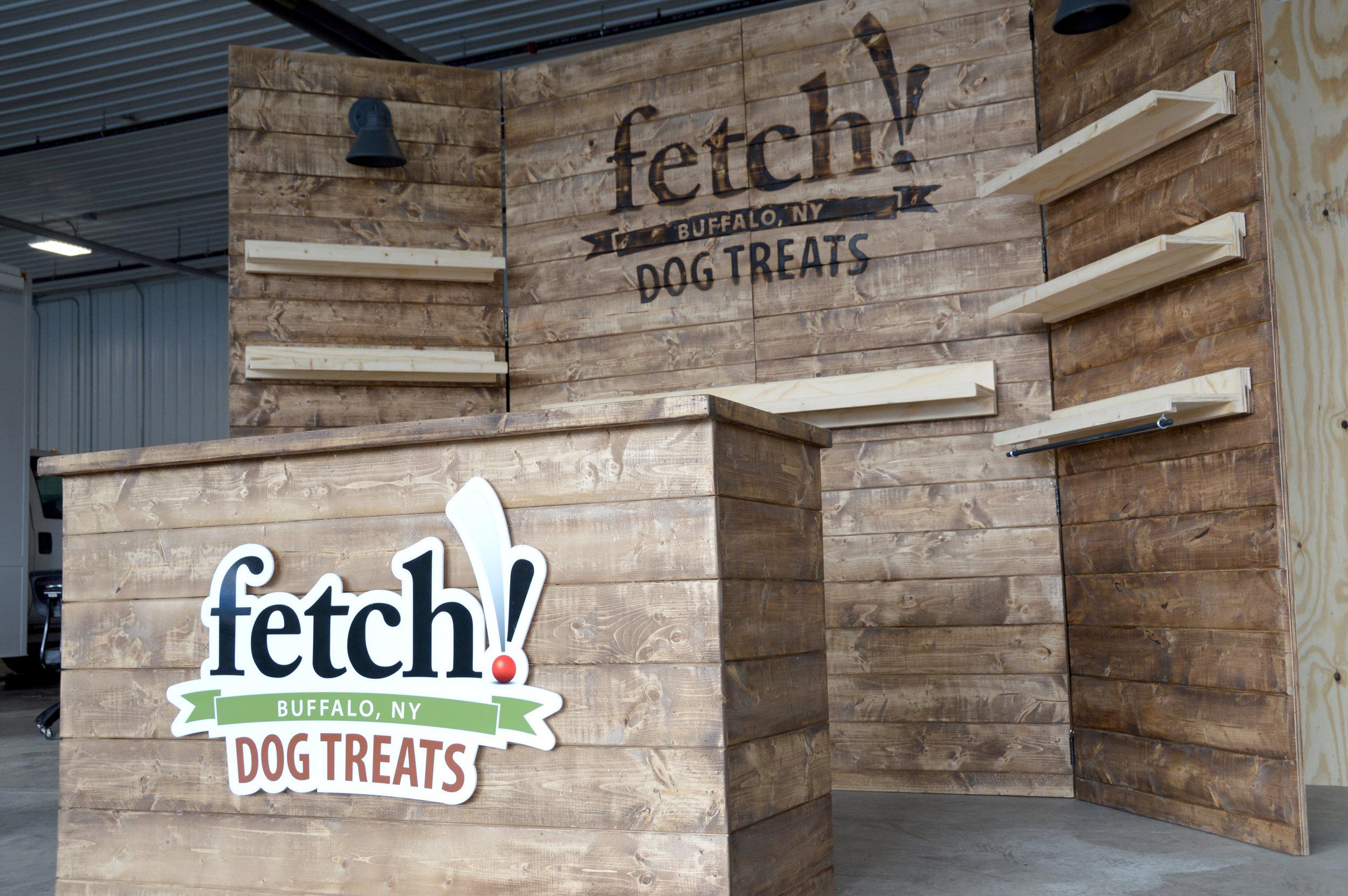 Fetch Dog Treats - Custom Trade Show Display