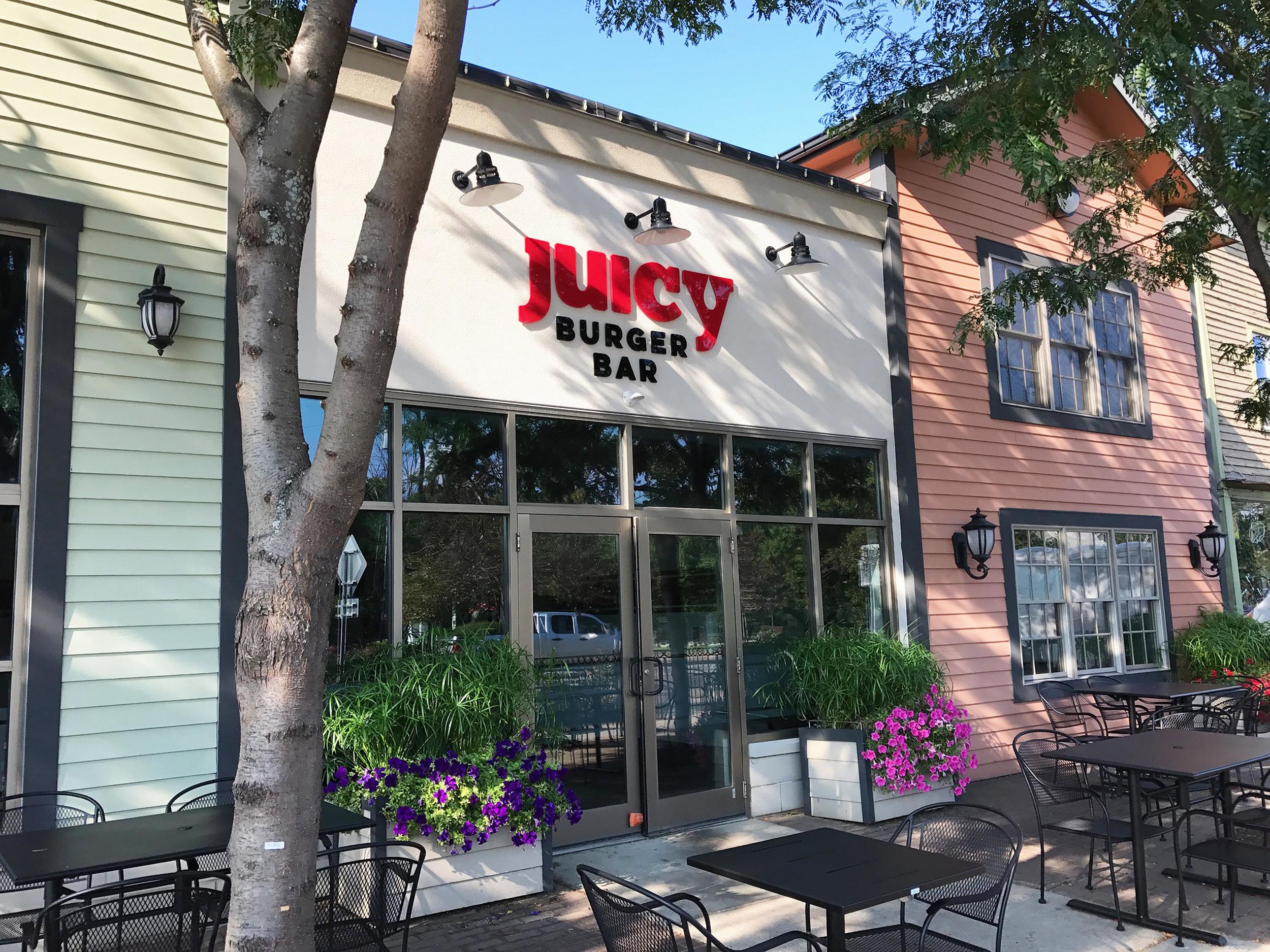 Juicy Burger Bar - Exterior Signage